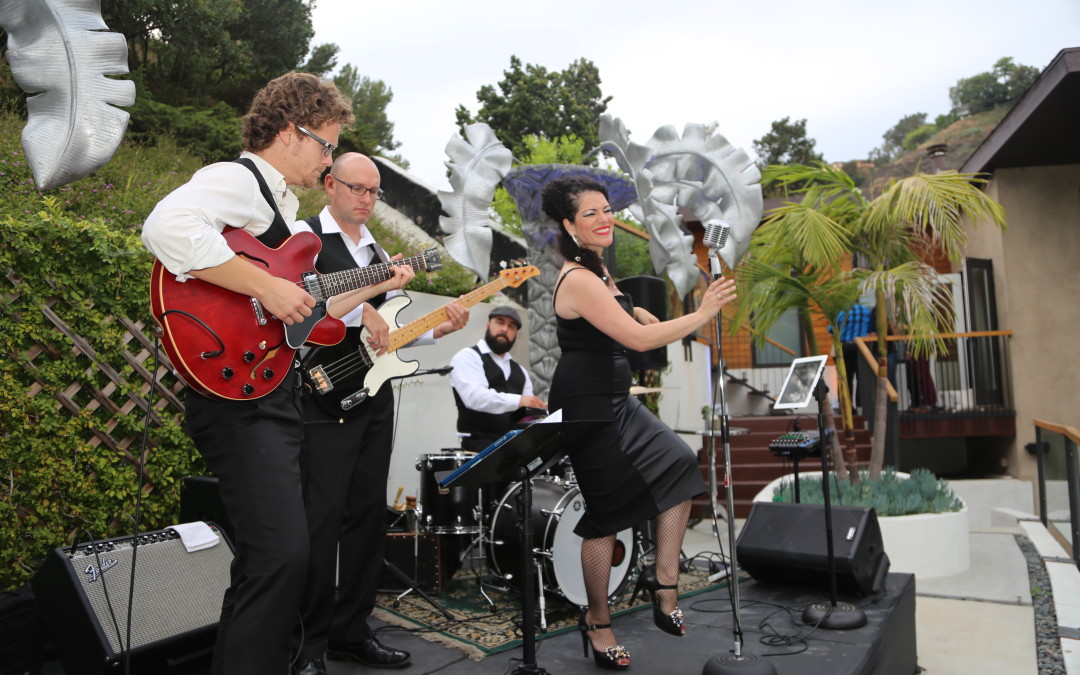 The Replicas Music Retro Modern Quartet at TLGB Launch Party