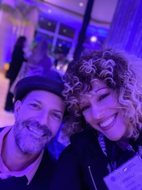 Veronica and DJ Lee Dyson of Hey Mister DJ